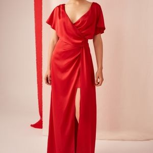 NEW Keepsake The Label Uncovered Gown Red